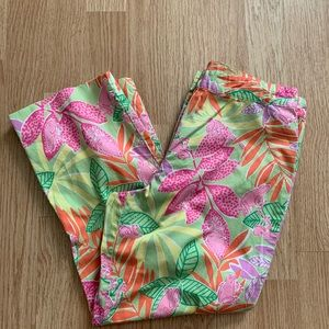 Vintage Lilly Pulitzer Frog Crops Size 2P